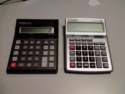 日商簿記に合格したい方の電卓 【Canon HS-1210TU】のレビュー④ 同型電卓との比較