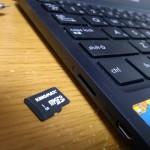 X205TAにマイクロSDカードを挿入する際の注意点