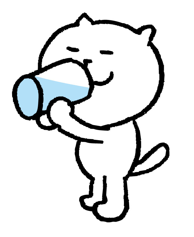 吸いたくなったら 水を飲む