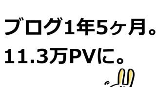 ブログ運営1年5ヶ月で11万3千PV達成!先月比+1万2千PVの状況まとめ