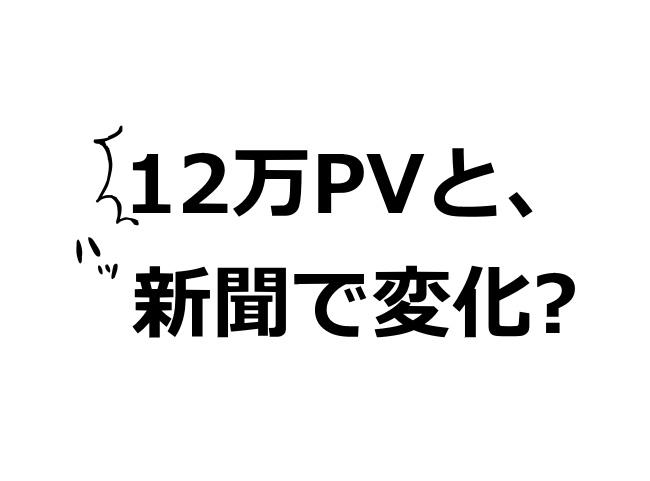 12万PV 変化