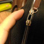 ビジネスバッグのファスナー・革引手のDIY修理方法を説明します
