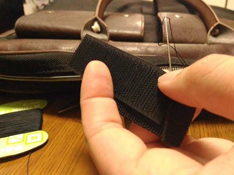 マジックテープ 縫う