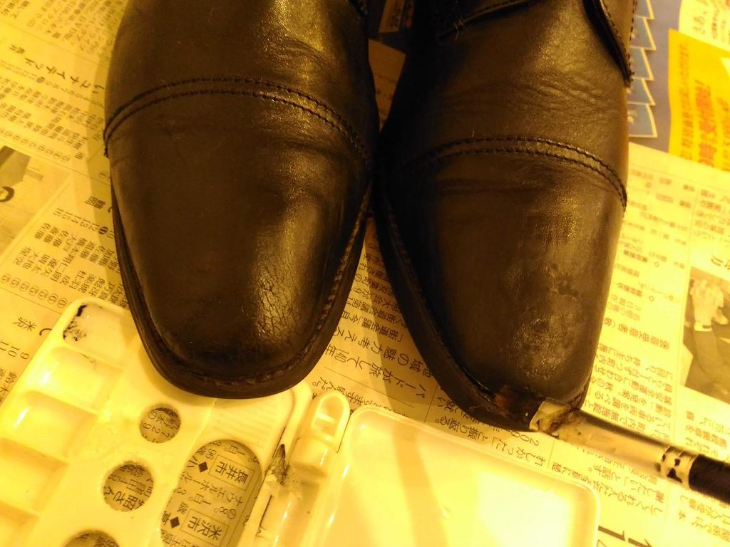 アドカラーを革靴に塗る