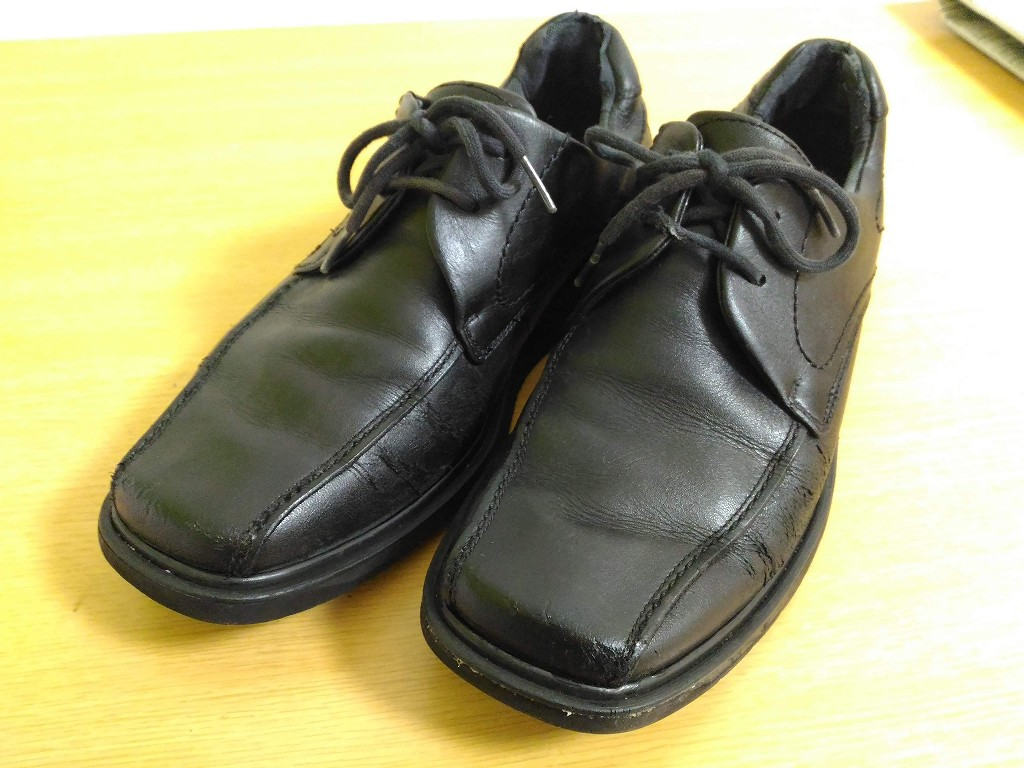 黒い革靴 色落ち 修理