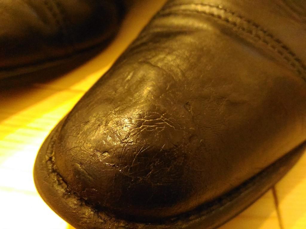 革靴 修理途中 アップ