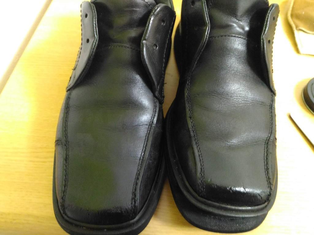 革靴 補色 完成