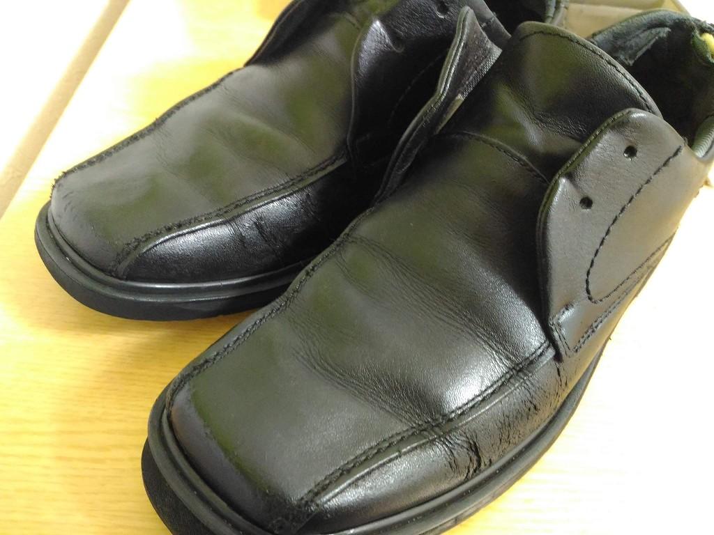 革靴 補色 完成 全体