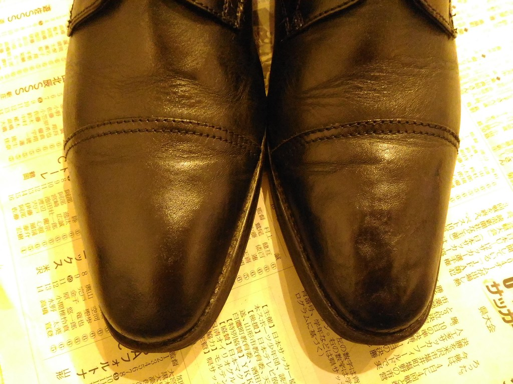 革靴 凹み 修理 完成2