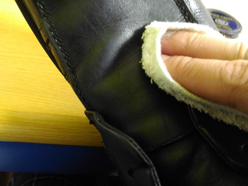 革靴 クリーム 磨き