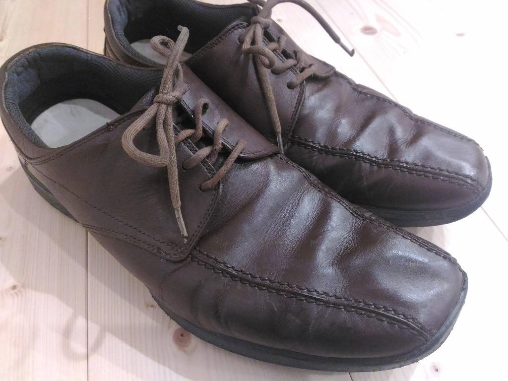革靴 茶色 修理 染め直し