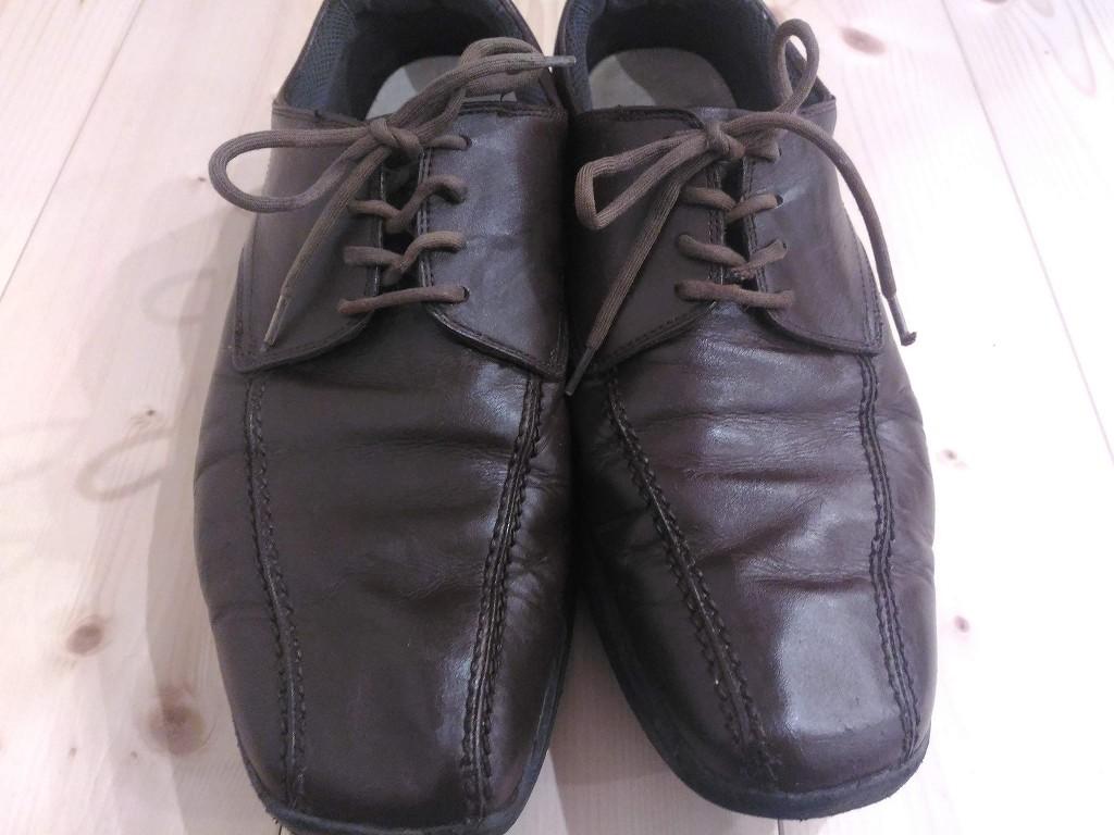 革靴 茶色 リカラー 染め直し 完成
