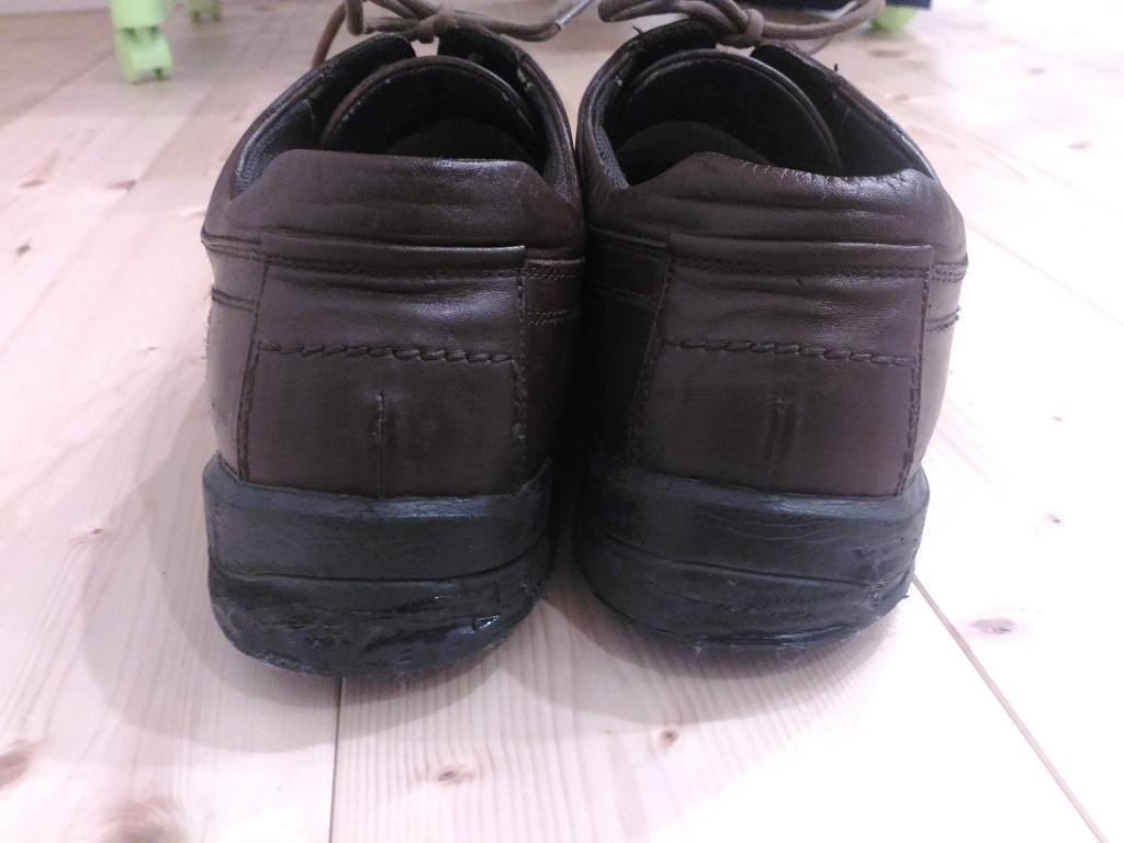 革靴 茶色 リカラー 染め替え 完成